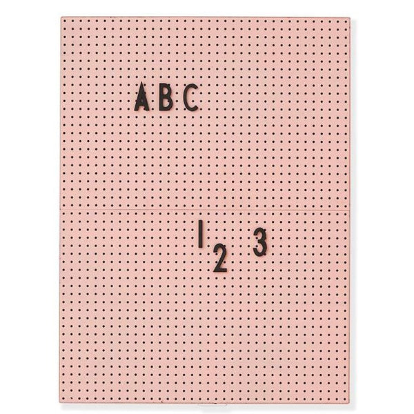 A4 message board in pink