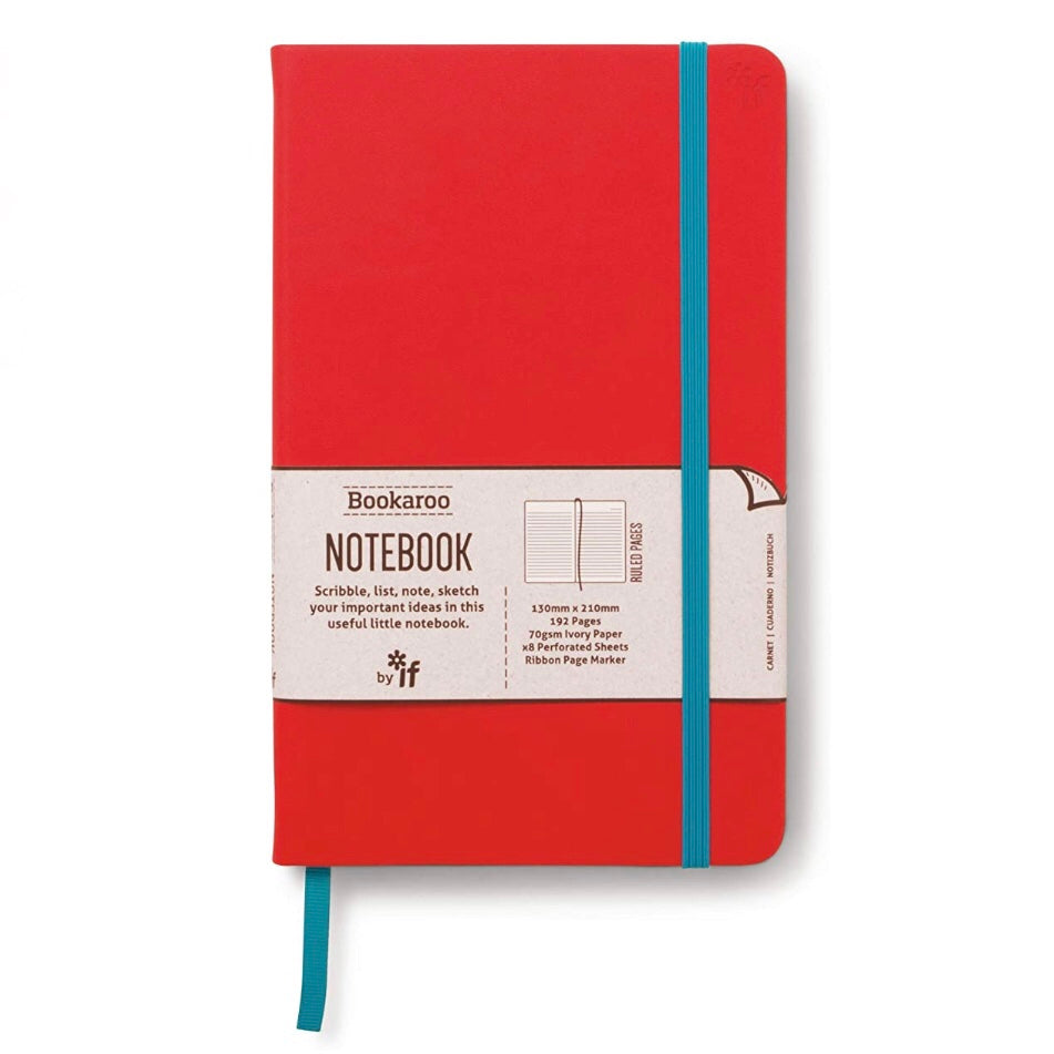 Red cover lined notebook