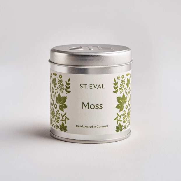 St Eval Moss scented candle tin