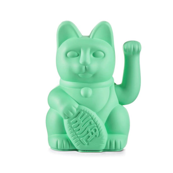 Lucky Waving Cat in mint green