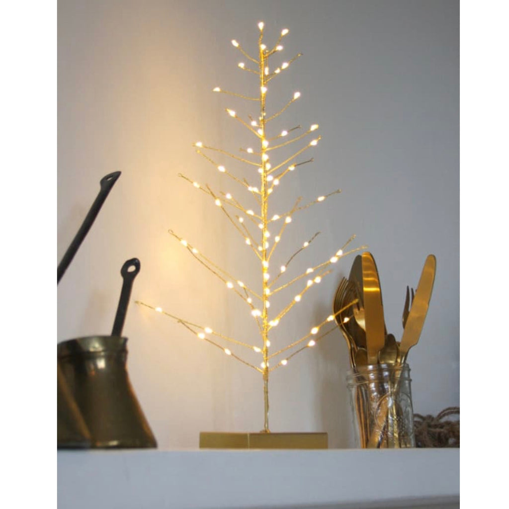 Gold coloured LED festive tree