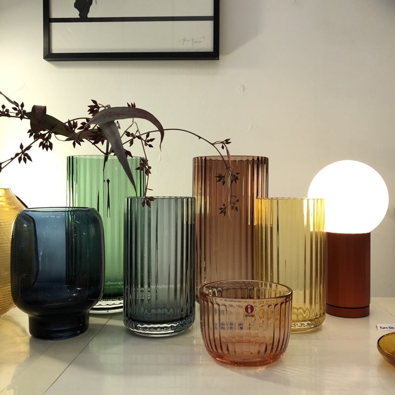 Raami glass votive at Indish Interiors