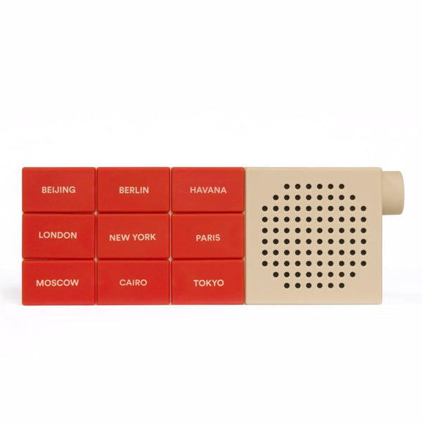 The City Radio in red by Palomar