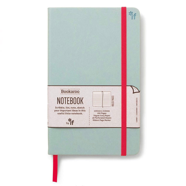 Mint cover lined notebook