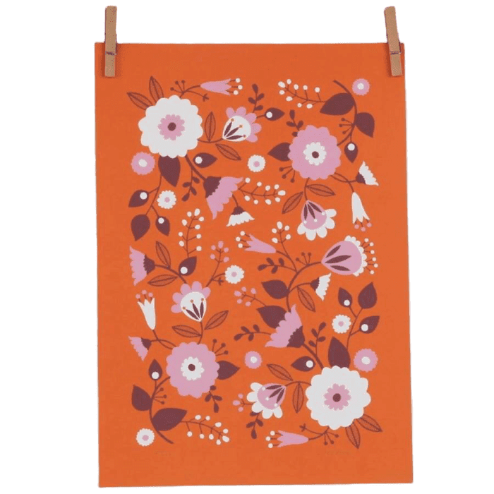 Orange Floral A4 Giclee Print by Maggie Magoo