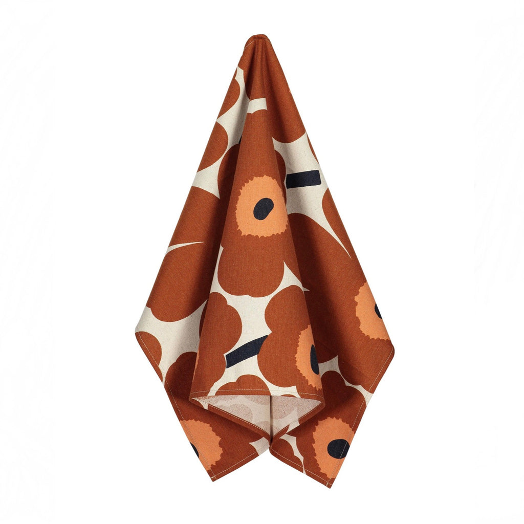 Pieni Unikko Tea Towel Chestnut