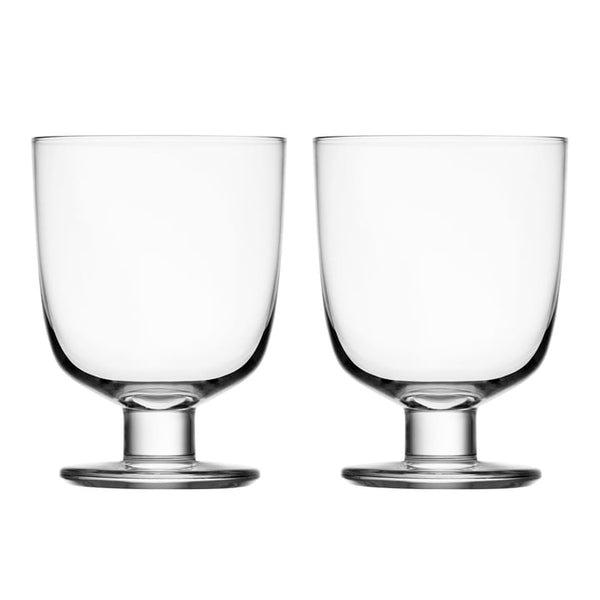 iittala lempi clear stackable set of 2 glasses