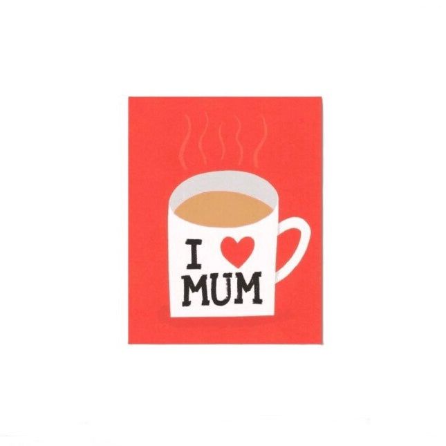 I Love MUM greetings card by Lisa Jones