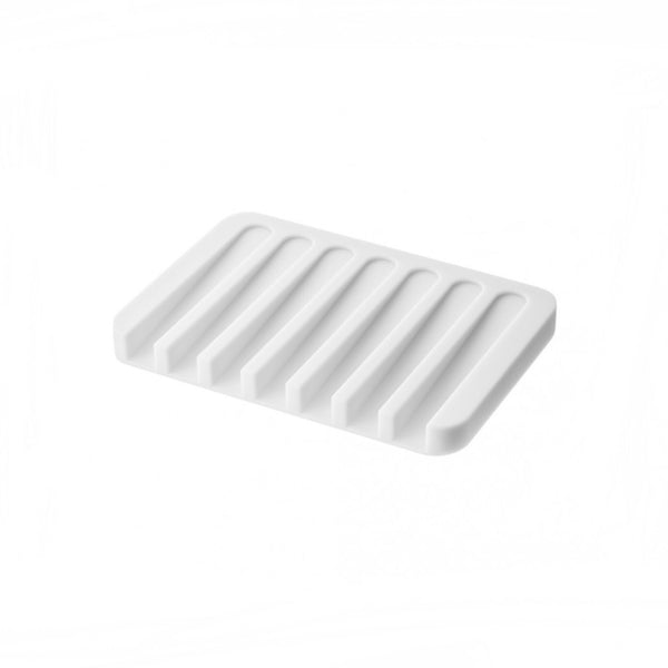 White silicone soap dish