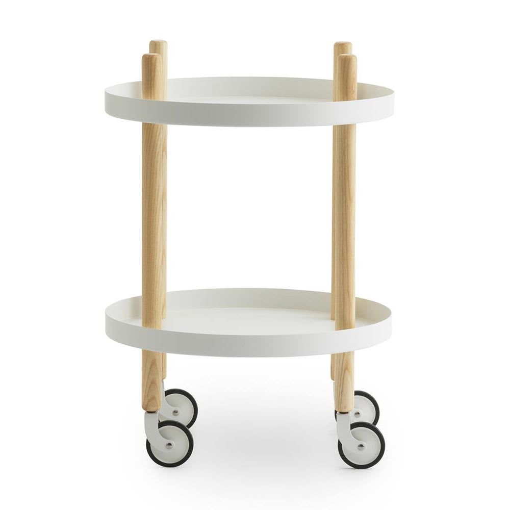 Round Block Table Trolley - indish-design-shop-2