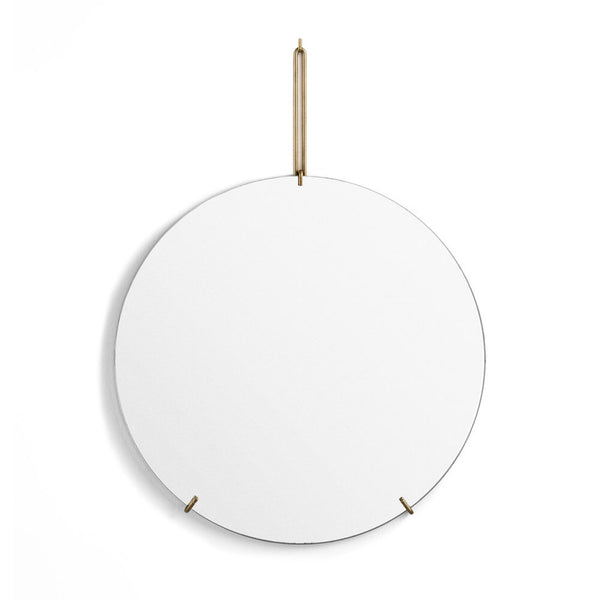 Wall Mirror Brass 30cm