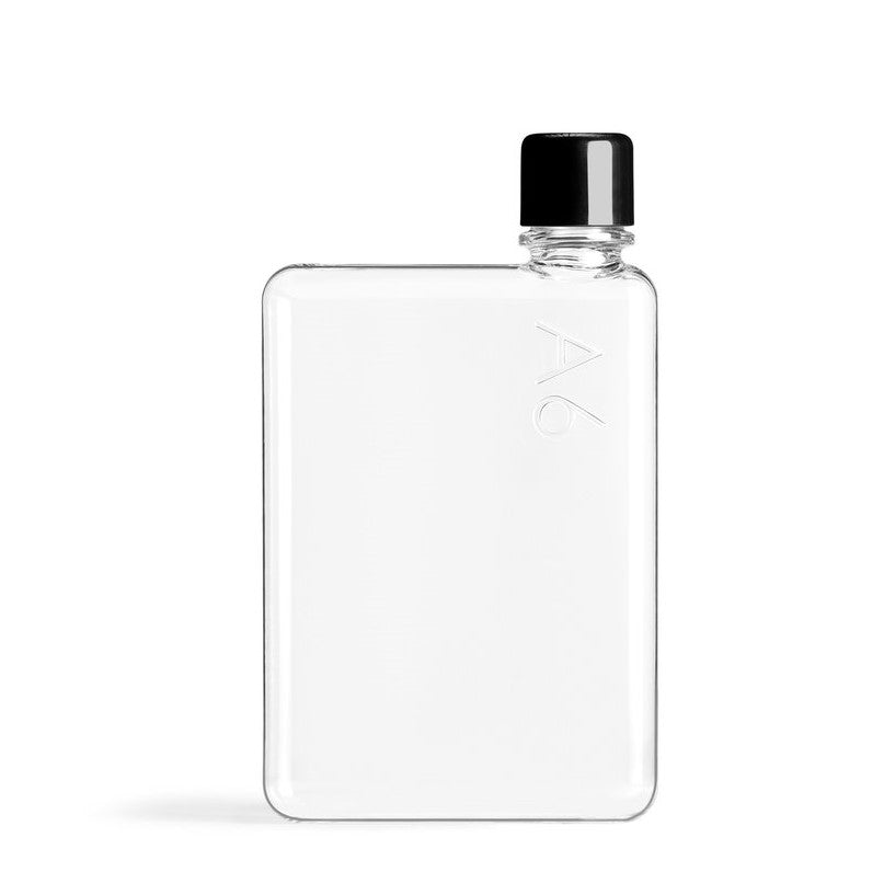 A6 Memobottle clear flat plastic water bottle