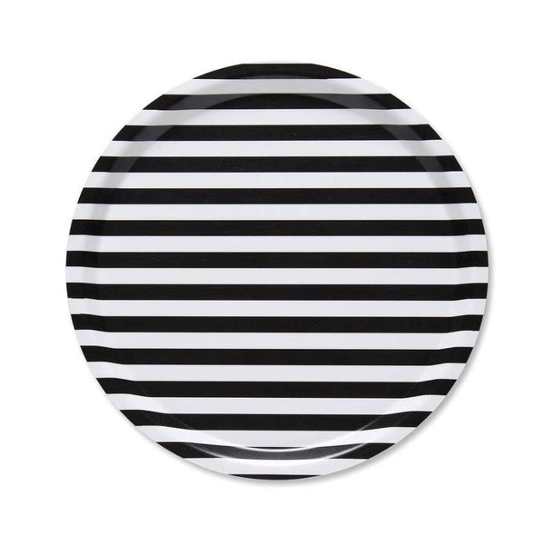 Marimekko Tasaraira Tray 31cm in black and white