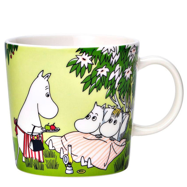 Moomin green ceramic mug relaxing summer 2020