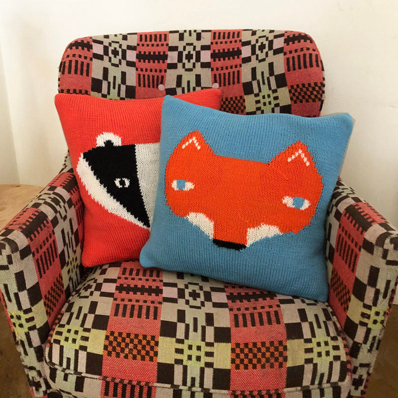 Fo and Badger Cushions by Donna Wilson