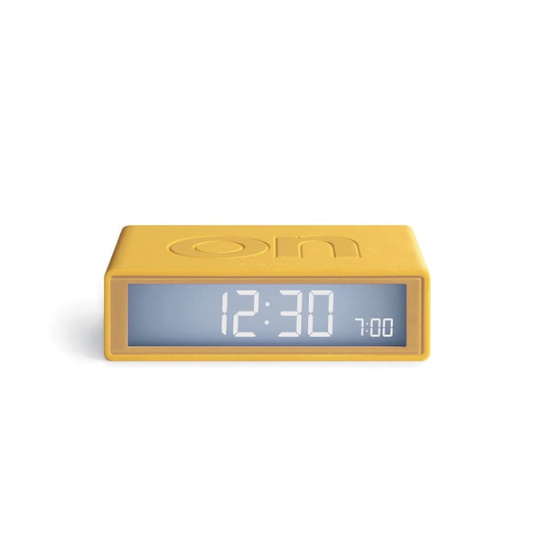 Flip+ Travel Alarm Clock yellow