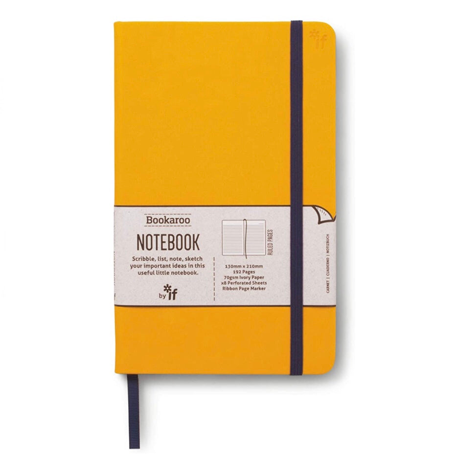 Mustard cover lined notebook