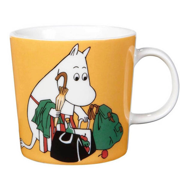 Moomin apricot orange ceramic mug