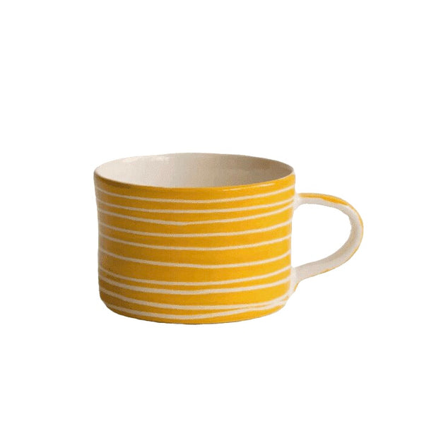 Ceramic turmeric striped mug
