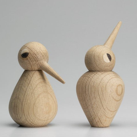 light oak wooden bird ornaments