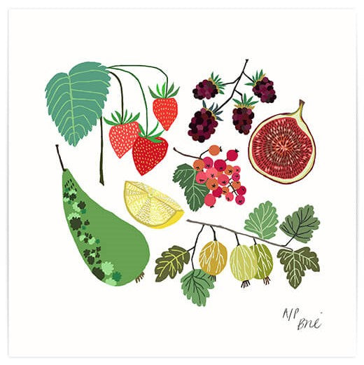 Limited Edition Fruit Field Giclée Print - indish-design-shop-2