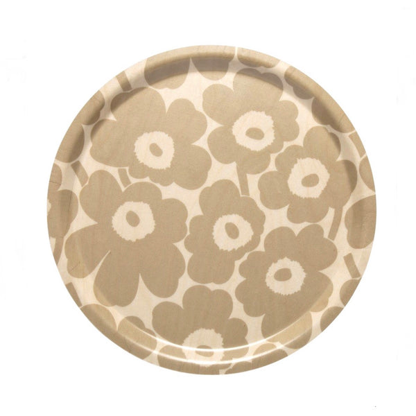 Unikko Round Birch Plywood Tray 31cm