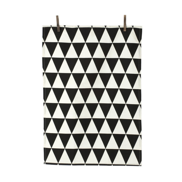 Black Triangle Tea Towel