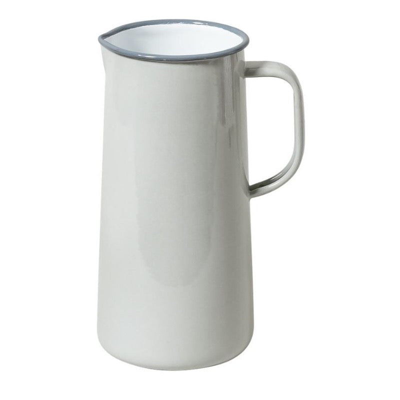 Falcon Enamelware Enamel 3 pint jug in oyster grey