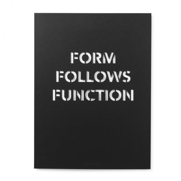 Form Follows Function Poster 30x40cm