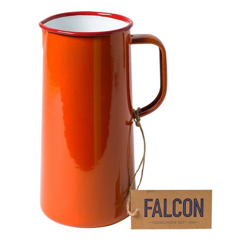 Falcon Enamelware Enamel 3 pint jug in pillar box red