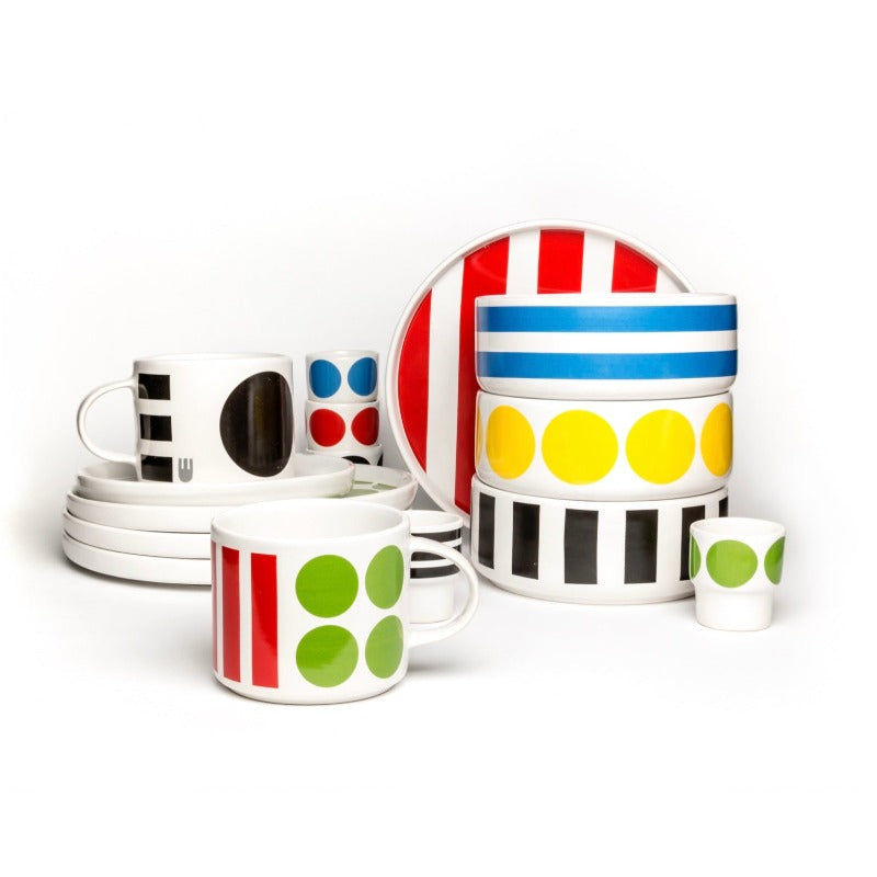 Camilla Engdahl's Dido range of ceramics in spots and stripes