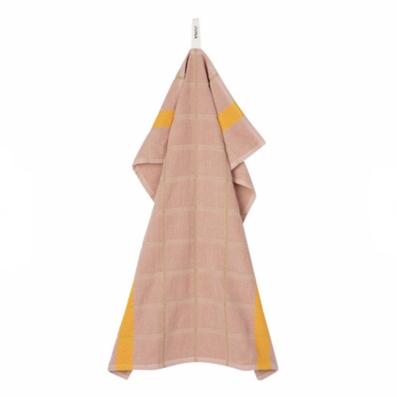Frotte organic cotton Tea Towel in dusty rose