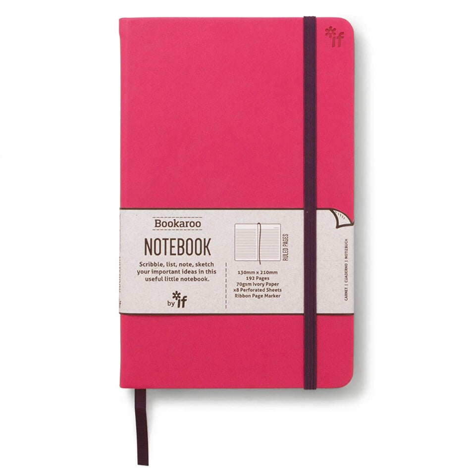 Pink cover lined notebook