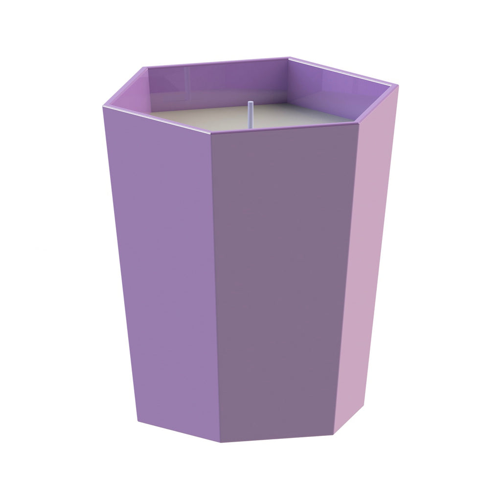 Lilac and turquoise Skittle Hex Scented Candle