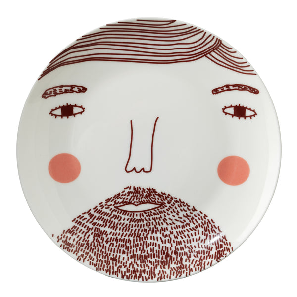 Beardy Man Plate - Indish Design Shop