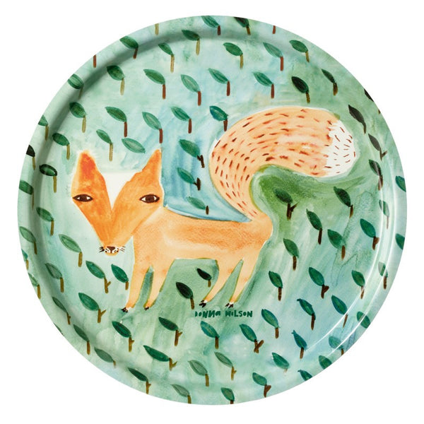 Fox in the Leaves Tray - Indish Design Shop  - 1