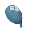 blue balloon shaped wool cushion