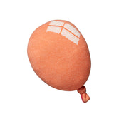 orange balloon shaped wool cushion