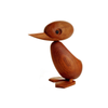 Architectmade teak wood duck ornament designed by Hans Bølling
