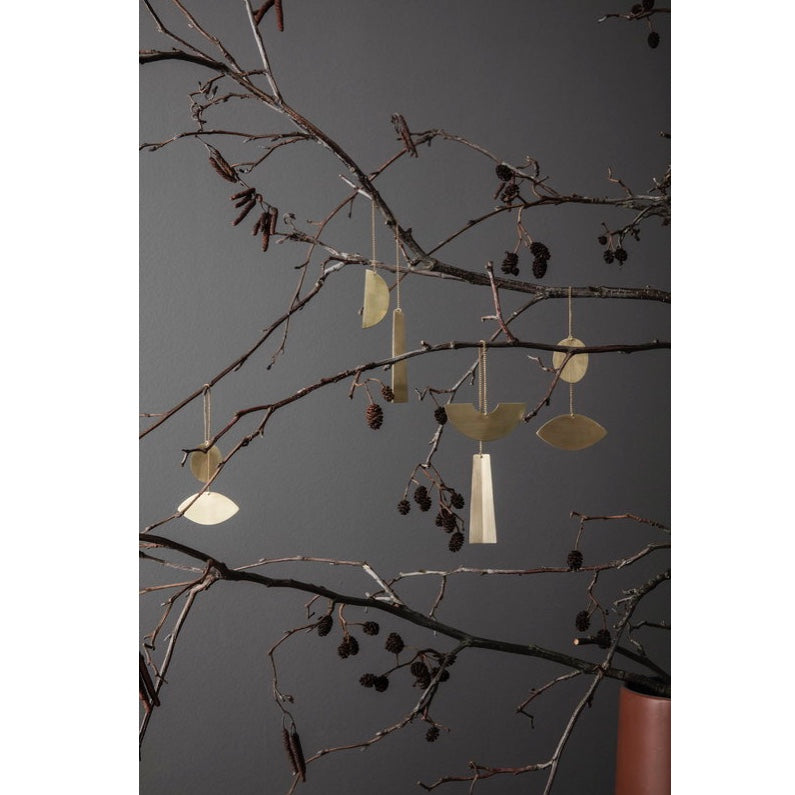 Brass tree ornaments by Ferm Living