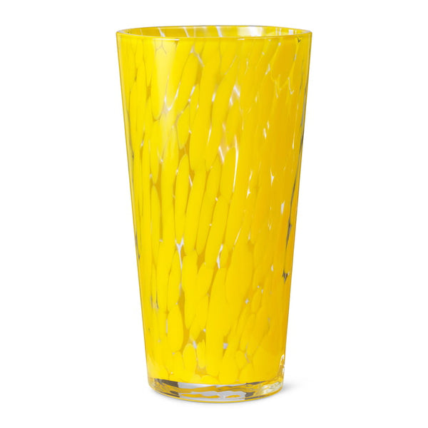 Casca Glass Vase in Dandelion  yellow