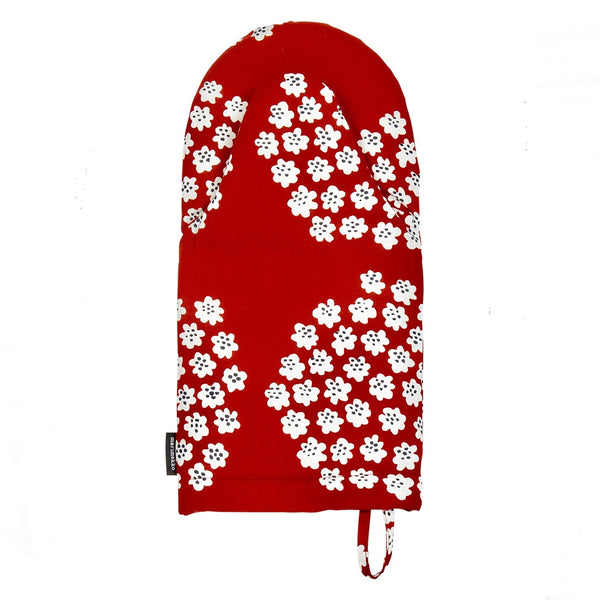 Marimekko red and white oven glove