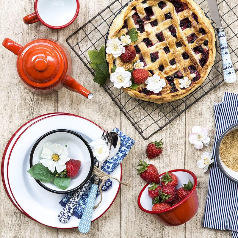 Enamel tableware by Falcon Enamelware