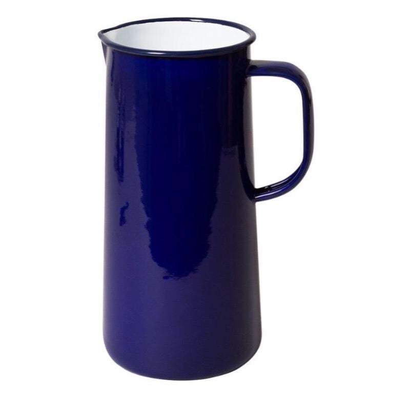 Falcon Enamelware Enamel 3 pint jug in falcon blue