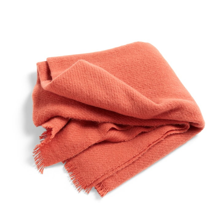 Soft wool blanket in rosehip peach by Hay