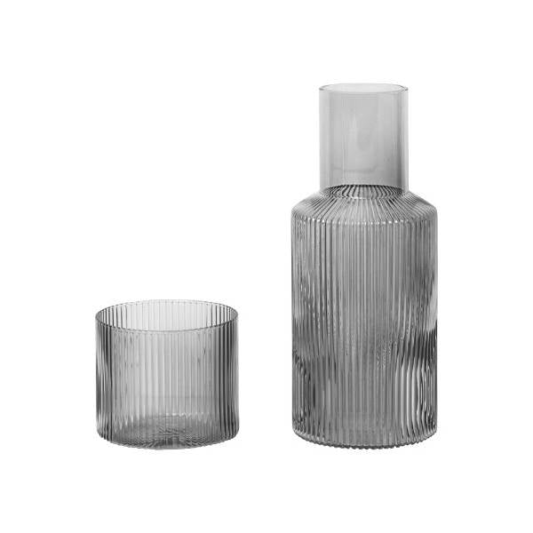 Ripple Carafe Set Smoked Grey - indish-design-shop-2