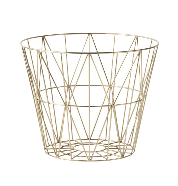 Brass Wire Basket Small