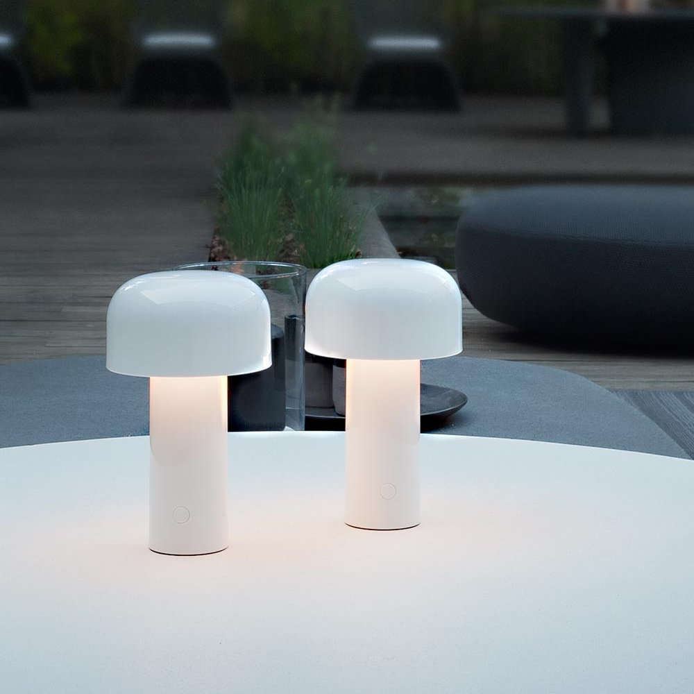 White Bellhop Table Lamp By Flos