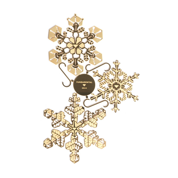 Brass Snowflakes Set of 3 - indish-design-shop-2