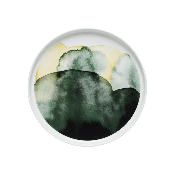 Weather Diary Plate 20cm Green - Indish Design Shop